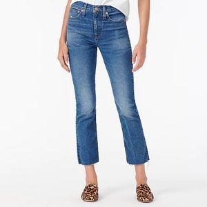 J Crew Billie Demi Boot Crop denim jeans Size 27 T